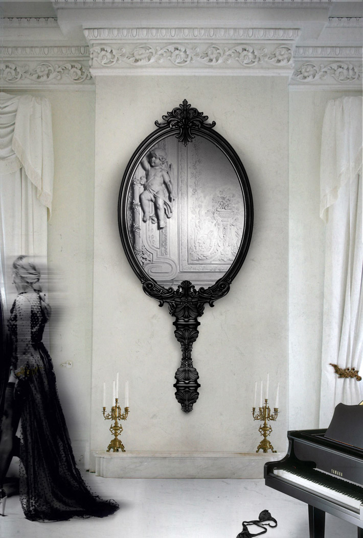 """contemporary mirror"" Marie Antoinette Marie Antoinette contemporary mirror"