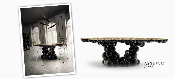 Luxury furniture, the birth of a masterpiece Luxury furniture, the birth of a masterpiece Luxury furniture, the birth of a masterpiece newton black gold dining table boca do lobo