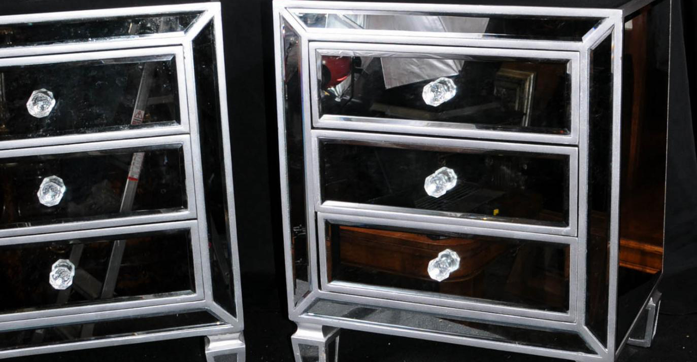 The most incredible mirrored nightstand