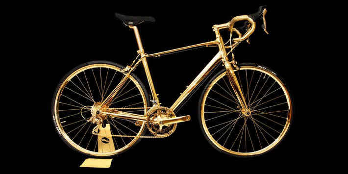 Most Expensive Cycling Bike Ever Made (with Video) Most Expensive Cycling Bike Ever Made (with Video) Most Expensive Cycling Bike Ever Made (with Video) gold racing bike 01
