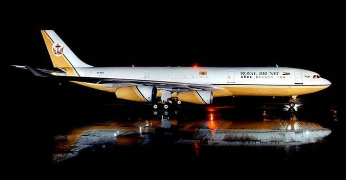 Sultan Brunei's Private Jet: A Flying Palace