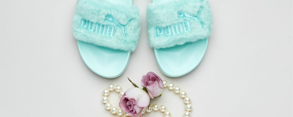 Rihanna and Puma Release New Limited Edition Fenty Fur Slides rihanna Rihanna and Puma Release New Limited Edition Fenty Fur Slides feature 5