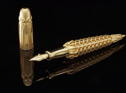 Discover The World's First 3D Printed Solid Gold Fountain Pen fountain pen Discover The World's First 3D Printed Solid Gold Fountain Pen gold fontain pen 00 420x311