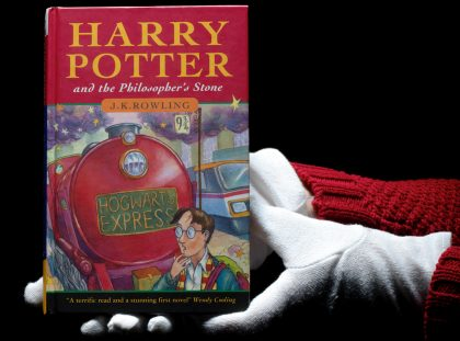 Discover 124k rare book of 'Harry Potter and the Philosopher's Stone' Harry Potter and the Philosopher's Stone Discover 124k rare book of 'Harry Potter and the Philosopher's Stone' harry potter bonhams auction 420x311