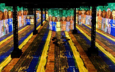 atelier des lumières Atelier des Lumières Marks Opening with Gustav Klimt Atelier des Lumi  res Marks Opening with Gustav Klimt 6   480x300