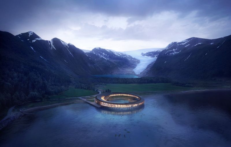 Icy Luxury Retreats In The Artic Circle (1) luxury retreat Luxury Retreats In The Arctic Circle That Defy Nature's Laws Icy Luxury Retreats In The Artic Circle 1
