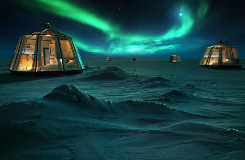 Icy Luxury Retreats In The Artic Circle (4) luxury retreat Luxury Retreats In The Arctic Circle That Defy Nature's Laws Icy Luxury Retreats In The Artic Circle 4