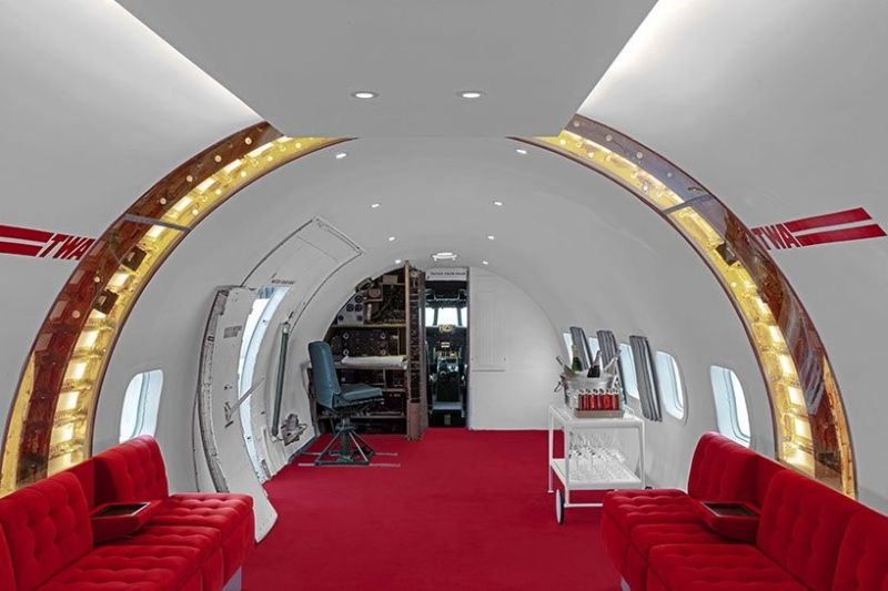 A Transformation Of A Vintage Plane Into A Retro-themed Cocktail Bar