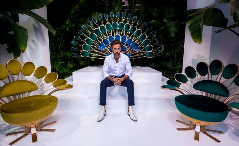 marc ange 'Il Pavone' – Marc Ange's Peacok Inspired Collection Marc Ange Flaunts A Peacok Inspired Collection During Design Miami 5