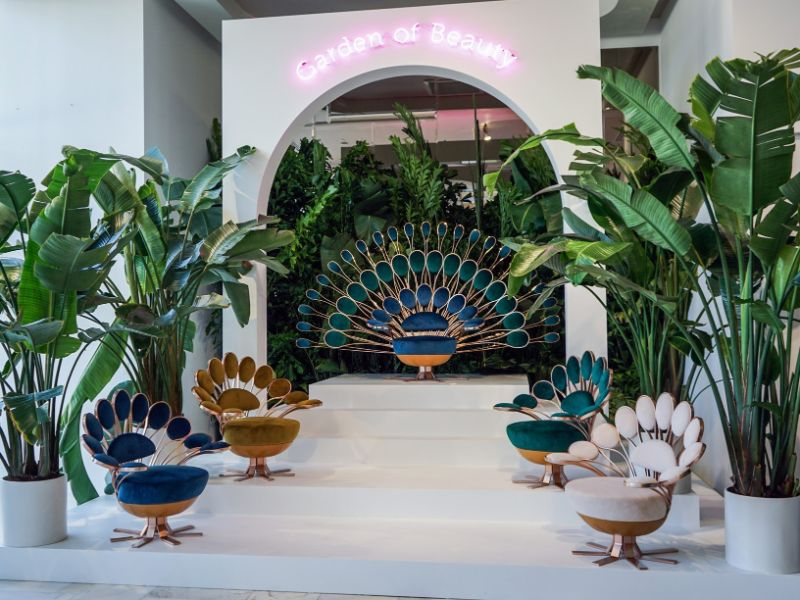 marc ange 'Il Pavone' – Marc Ange's Peacok Inspired Collection Marc Ange Flaunts A Peacok Inspired Collection During Design Miami 6