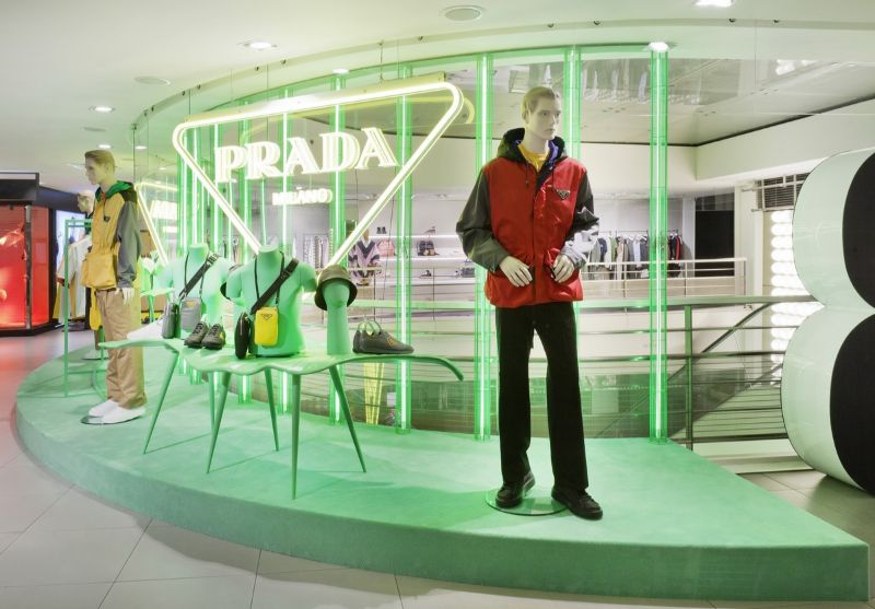 "Prada's Hyper Leafs Are On Full Display At Galeries Lafayette's Paris Haussmann (6) prada Prada's ""Hyper Leafs"" Take Over The Iconic Galeries Lafayette's Paris Pradas Hyper Leafs Are On Full Display At Galeries Lafayettes Paris Haussmann 6"