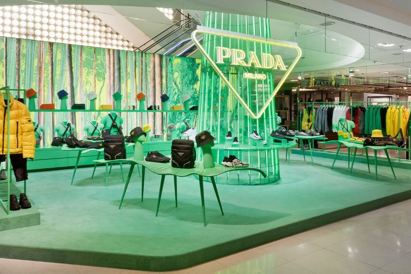 "Prada's Hyper Leafs Are On Full Display At Galeries Lafayette's Paris Haussmann (9) prada Prada's ""Hyper Leafs"" Take Over The Iconic Galeries Lafayette's Paris Pradas Hyper Leafs Are On Full Display At Galeries Lafayettes Paris Haussmann 9"