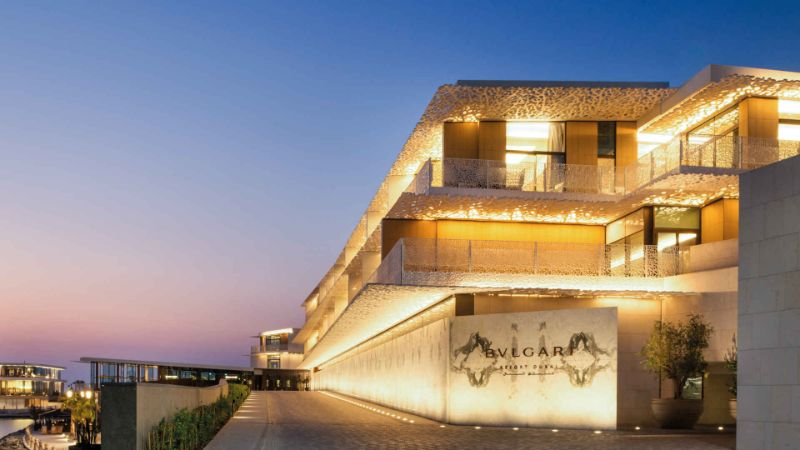 Luxurious And Modern Hotels That Are Owned By Haute Couture Royalty modern hotel High Fashion Meets Luxury Hospitality With These Modern Hotels Bulgari Resort Residences Dubai