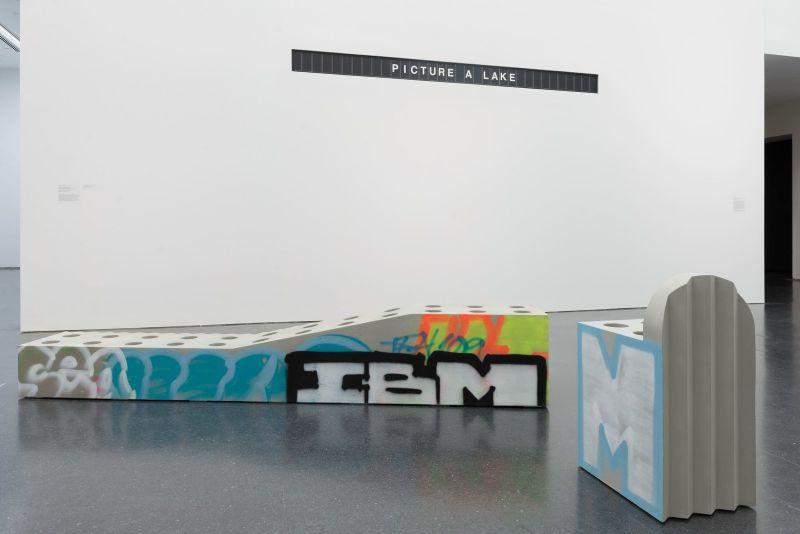 Virgil Abloh Brings Street Grafitti Flair To Galerie Kreo (10) virgil abloh Virgil Abloh Brings Street Grafitti Flair To Galerie Kreo Virgil Abloh Brings Street Grafitti Flair To Galerie Kreo 10