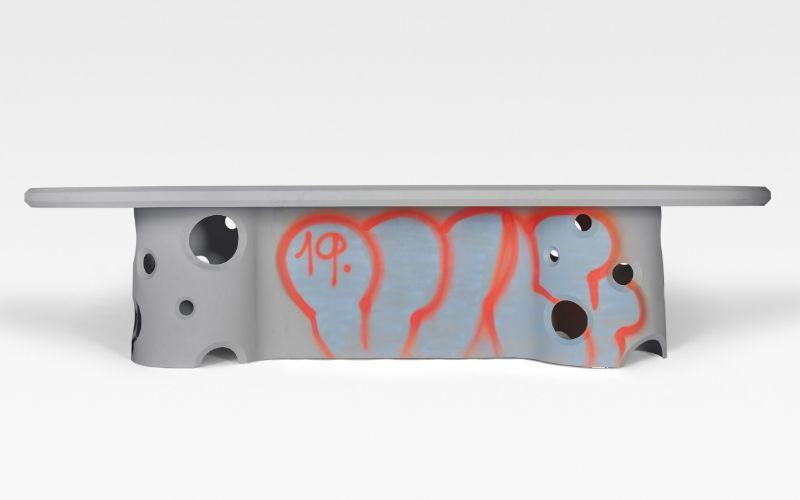 Virgil Abloh Brings Street Grafitti Flair To Galerie Kreo (2) virgil abloh Virgil Abloh Brings Street Grafitti Flair To Galerie Kreo Virgil Abloh Brings Street Grafitti Flair To Galerie Kreo 2