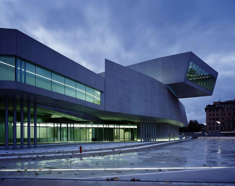 architectural building Imposing Architectural Buildings Featuring Deconstructed Design MAXXI by Zaha Hadid Architects