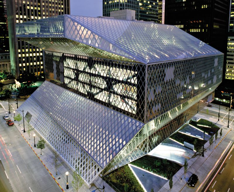 architectural building Imposing Architectural Buildings Featuring Deconstructed Design Seattle Public Library