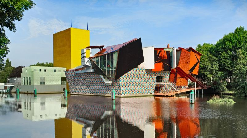 architectural building Imposing Architectural Buildings Featuring Deconstructed Design The Groninger Museum