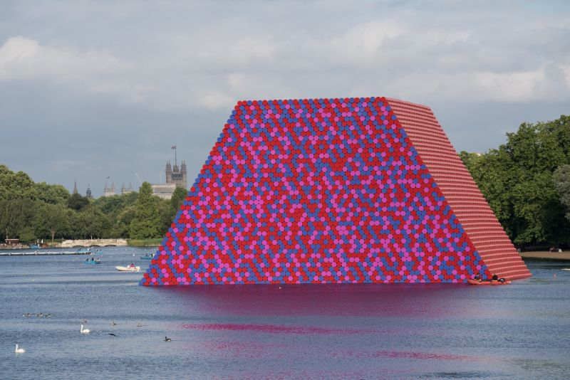 Christo - The Famous Artists Who Wrapped The World christo Christo, A Famous Artist That Leaves The World Of Design Mourning The London Mastaba   The London Mastaba  Serpentine Lake  Hyde Park  2016 18 6