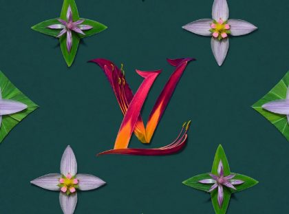 Bright Flower Arrangements Meet Iconic Fashion Brand Patterns ft