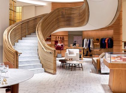 Hermès Debuts It's Sydney Flaship Store With An Imposing Staircase ft hermès Hermès Debuts It's Sydney Flagship Store With An Imposing Staircase Hermes Debuts Its Sydney Flaship Store With An Imposing Staircase ft 420x311