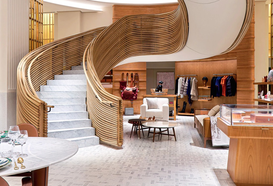 Hermès Debuts It's Sydney Flaship Store With An Imposing Staircase ft