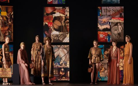 Dior 2021's Collection Uses Contemporary Collage Art As Its Backdrop ft