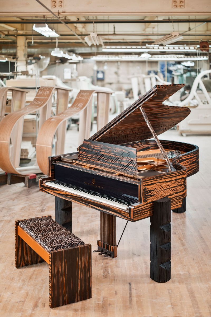 Lenny Kravitz Embedded His Essence Into A Steinway & Sons Piano lenny kravitz Lenny Kravitz Designs A Steinway & Sons Piano With African Influences Lenny Kravitz Embedded His Essence Into A Steinway Sons Piano 2