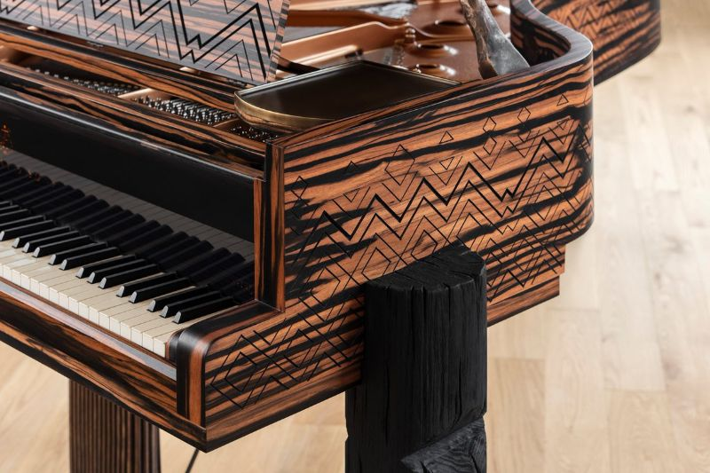 Lenny Kravitz Embedded His Essence Into A Steinway & Sons Piano lenny kravitz Lenny Kravitz Designs A Steinway & Sons Piano With African Influences Lenny Kravitz Embedded His Essence Into A Steinway Sons Piano 3