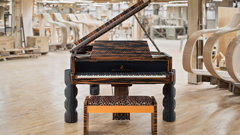 Lenny Kravitz Embedded His Essence Into A Steinway & Sons Piano lenny kravitz Lenny Kravitz Designs A Steinway & Sons Piano With African Influences Lenny Kravitz Embedded His Essence Into A Steinway Sons Piano 4