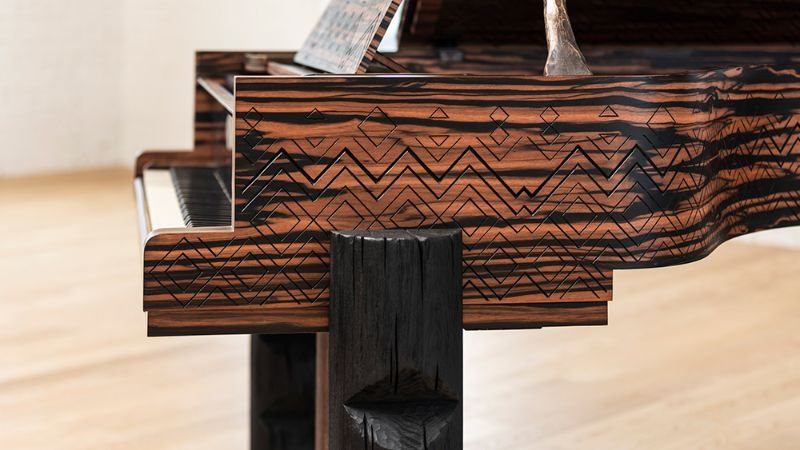 Lenny Kravitz Embedded His Essence Into A Steinway & Sons Piano lenny kravitz Lenny Kravitz Designs A Steinway & Sons Piano With African Influences Lenny Kravitz Embedded His Essence Into A Steinway Sons Piano 5