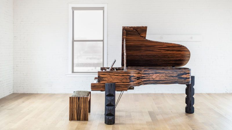 Lenny Kravitz Embedded His Essence Into A Steinway & Sons Piano lenny kravitz Lenny Kravitz Designs A Steinway & Sons Piano With African Influences Lenny Kravitz Embedded His Essence Into A Steinway Sons Piano 8