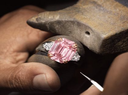 Extremely Rare 19-Carat Pink Diamond Ring by Harry Winston