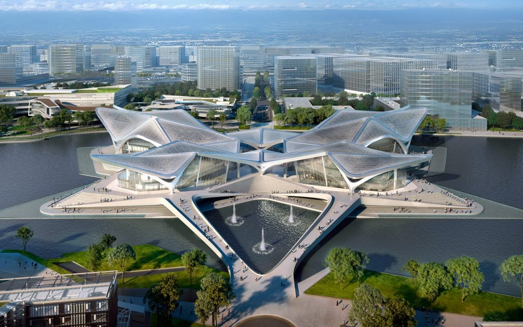 Stunning Cultural Center in Southern China by Zaha Hadid Architects zaha hadid Stunning Cultural Center in Southern China by Zaha Hadid Architects Stunning Cultural Center in Southern China by Zaha Hadid 3 1024x640