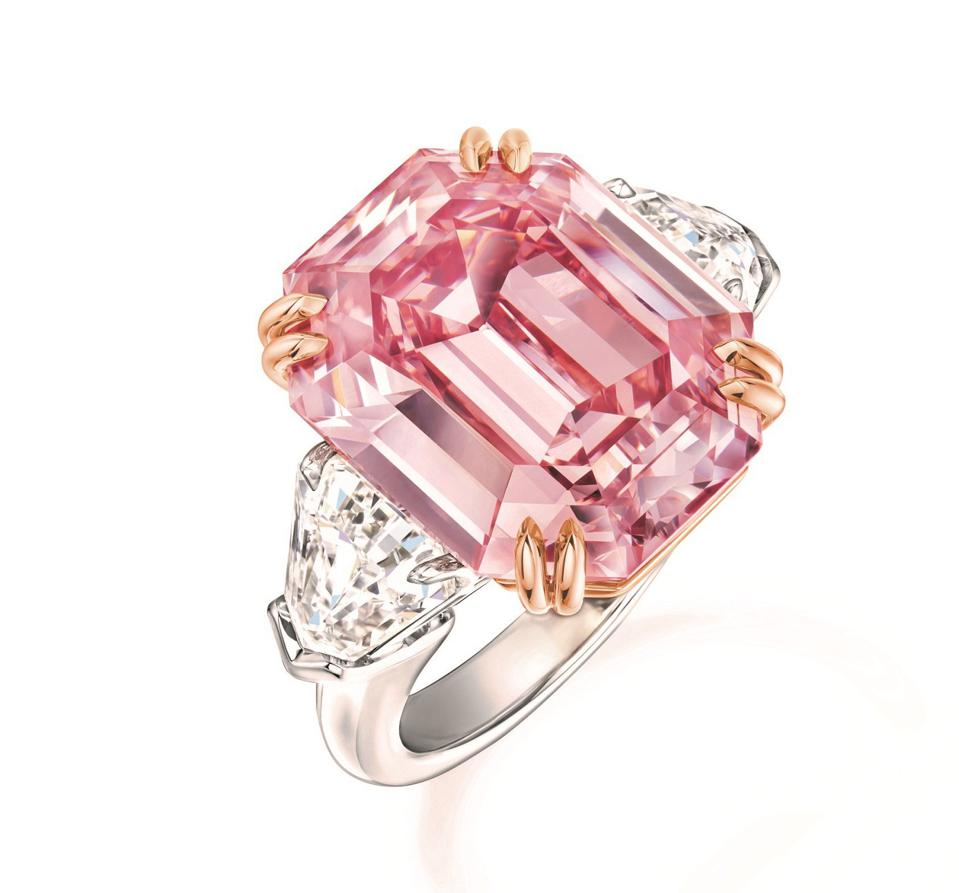 Extremely Rare 19-Carat Pink Diamond Ring by Harry Winston harry winston Extremely Rare 19-Carat Pink Diamond Ring by Harry Winston Winston Pink Legacy