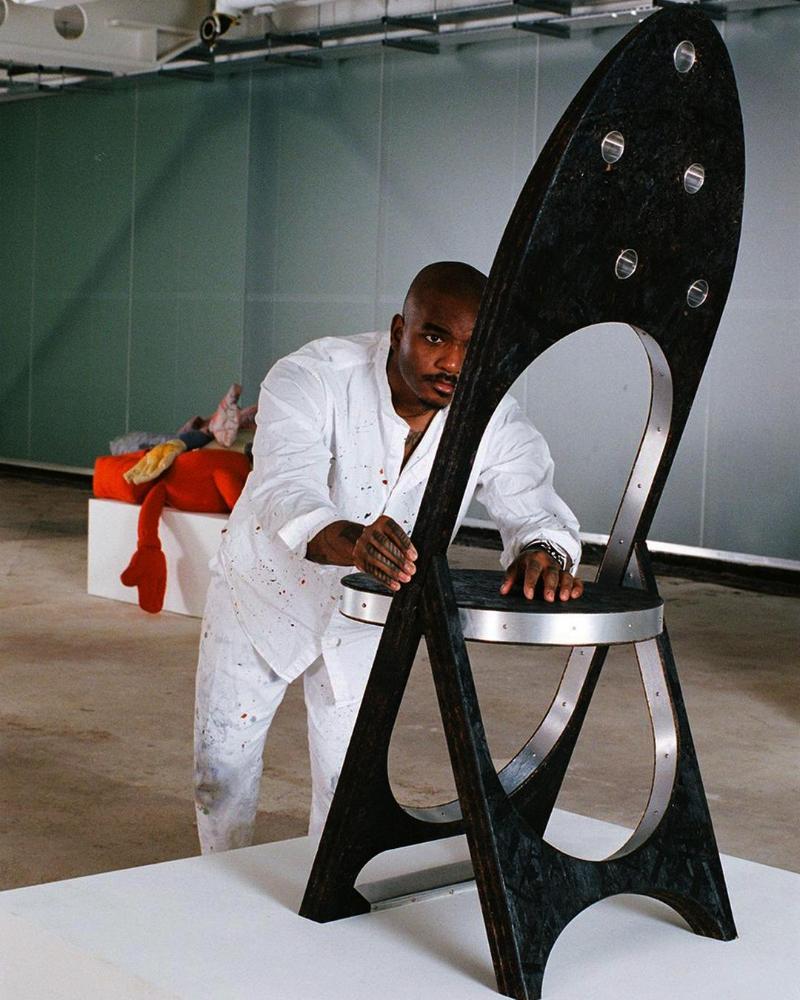 Striking New Sculptural Chair Collection By Samuel Ross At Friedman Benda friedman benda Striking New Sculptural Chair Collection By Samuel Ross At Friedman Benda 172778328 208744481058549 8984050134739892083 n 1
