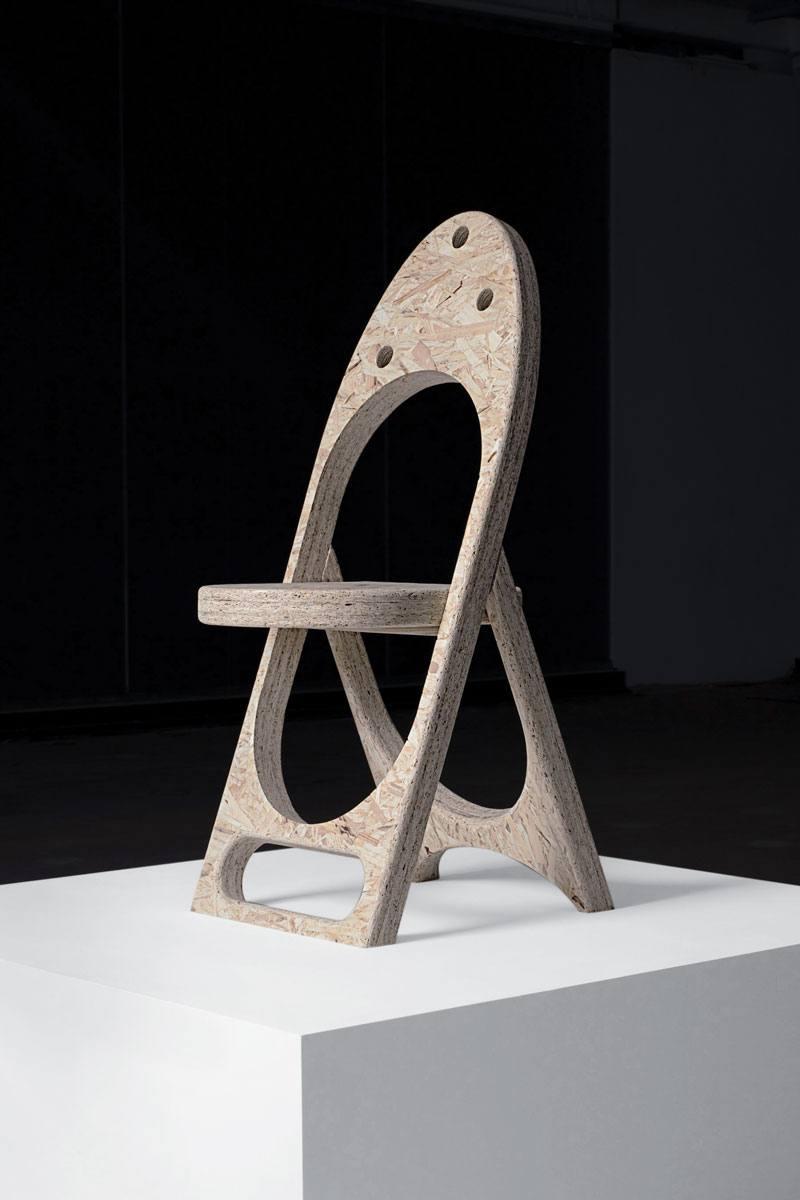 Striking New Sculptural Chair Collection By Samuel Ross At Friedman Benda friedman benda Striking New Sculptural Chair Collection By Samuel Ross At Friedman Benda Ross RECOVERY CHAIR WEB