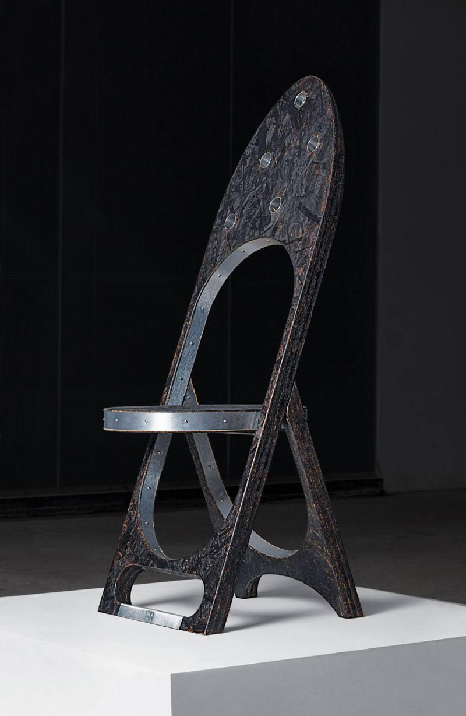 Striking New Sculptural Chair Collection By Samuel Ross At Friedman Benda friedman benda Striking New Sculptural Chair Collection By Samuel Ross At Friedman Benda Ross TRAUMA CHAIR WEB