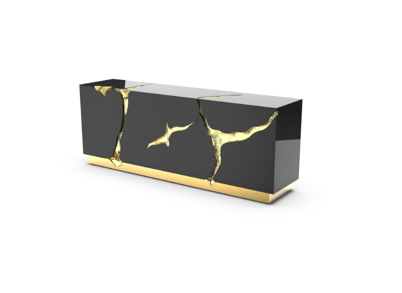 Fashion Meets Interior Design - The Most CovetED Trends For This Year interior design Fashion Meets Interior Design – The Most CovetED Trends For This Year lapiaz black gold sideboard 01 1 1