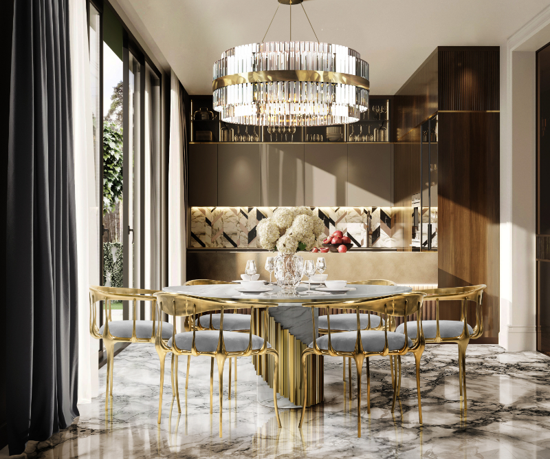 Luxury Dining Rooms Where Exclusive Design Pieces Steal The Spotlight