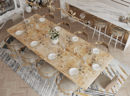 Luxury Dining Rooms Where Exclusive Design Pieces Steal The Spotlight luxury dining room Luxury Dining Rooms Where Exclusive Furniture Steals The Spotlight FT DLE 1 420x311
