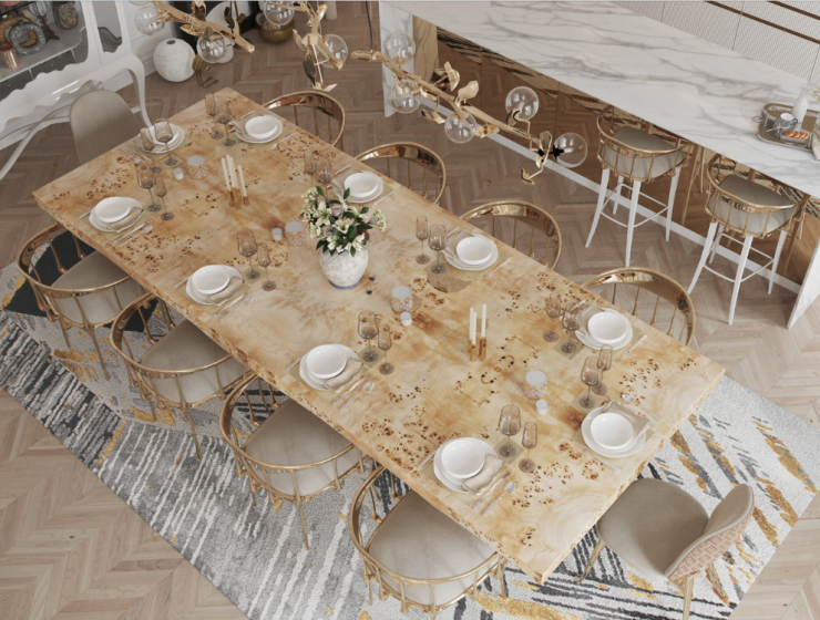 Luxury Dining Rooms Where Exclusive Design Pieces Steal The Spotlight luxury dining room Luxury Dining Rooms Where Exclusive Furniture Steals The Spotlight FT DLE 1 740x560   FT DLE 1 740x560