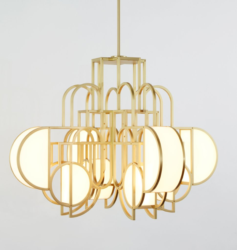 Lara Bohinc & Roll & Hill's Exclusive Lighting Collection, Inspired By Lunar Phases  lara bohinc Lara Bohinc & Roll & Hill's Exclusive Lighting Collection, Inspired By Lunar Phases MoonriseChandelier brass3 1024x1024 1