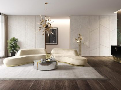 Modern Living Room Design With A Luxury Sofa