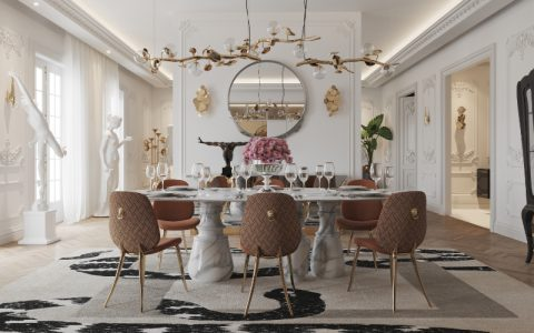 PIETRA DINING TABLE, AN ELEGANT AND LUXURY DINING TABLE